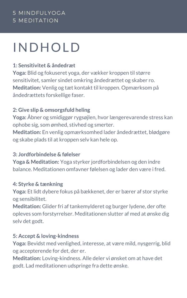 5 yogasekvenser 5 meditationer
