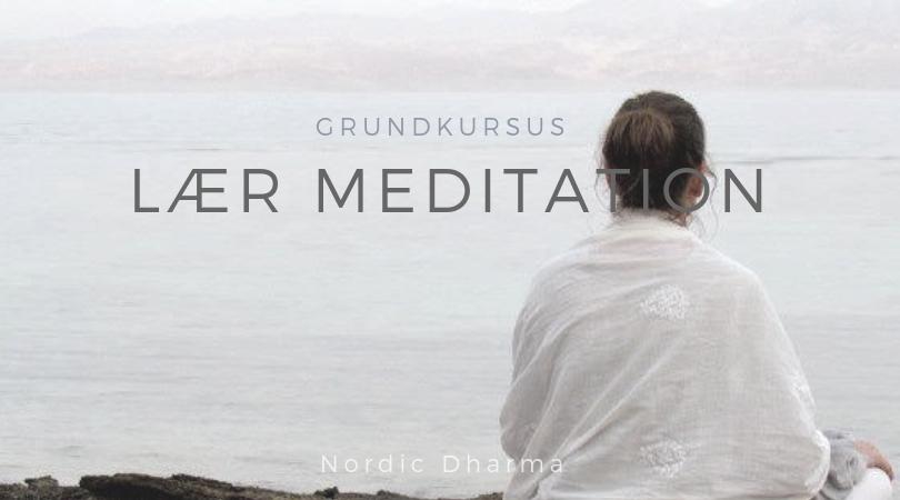 Lær at meditere – 3 ugers grundkursus i meditation