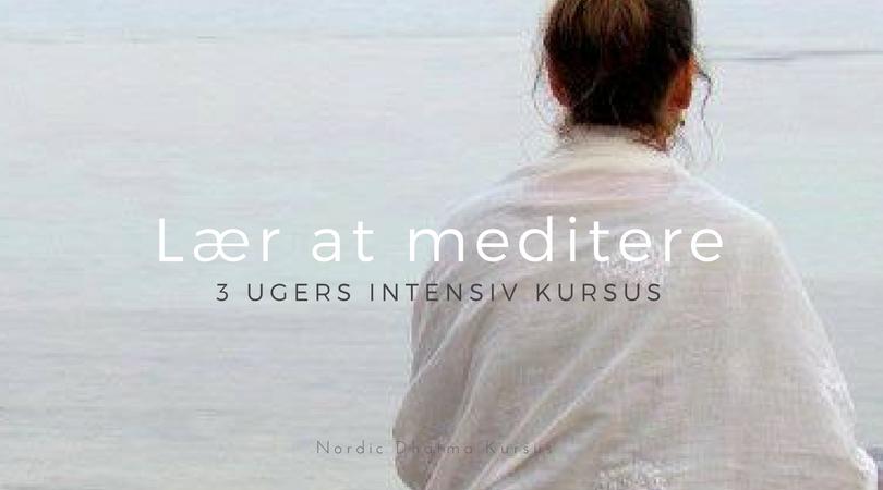 Lær at meditere – 3 ugers kursus